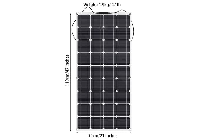 GIARIDE Panel Solar Flexible